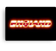 England - English Flag Logo - Glowing Canvas Print