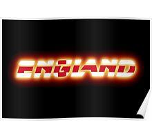 England - English Flag Logo - Glowing Poster