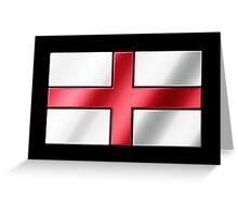 English Flag - England - Metallic Greeting Card