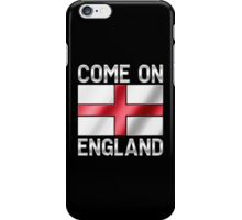 Come On England - English Flag & Text - Metallic iPhone Case/Skin