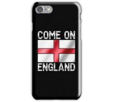 Come On England - English Flag & Text - Metallic iPhone Case/Skin