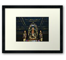 ——-——- BUDDA-TEMPLE OF WORSHIP CHINA PICTURE AND OR CARDS SOLD 4 GREETING CARDS TY ——-——- Framed Print