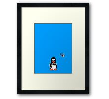Domestic Penguin - Lipstick Framed Print