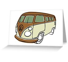 VW Type 2 bus brown Greeting Card