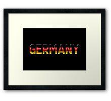 Germany - German Flag - Metallic Text Framed Print