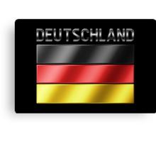 Deutschland - German Flag & Text - Metallic Canvas Print