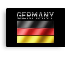 Germany - German Flag & Text - Metallic Canvas Print