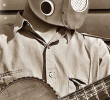 cowboy with guitar #5 transp. Sticker