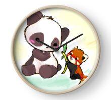Cute Pandas  Clock
