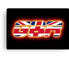 GBR - Great Britain - Flag Logo - Glowing Canvas Print
