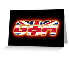 GBR - Great Britain - Flag Logo - Glowing Greeting Card