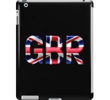 GBR - British Flag - Metallic Text iPad Case/Skin