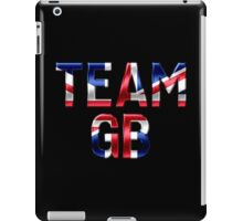 Team GB - British Flag - Metallic Text iPad Case/Skin