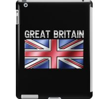 Great Britain - British Flag & Text - Metallic iPad Case/Skin
