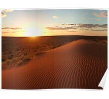 Simpson Desert sunset Poster
