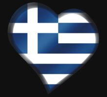 Greek Flag - Greece - Heart by graphix
