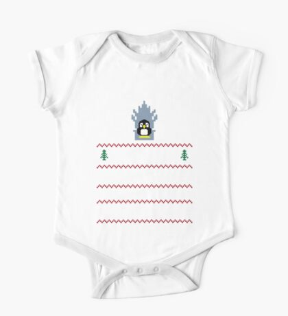 LINUX IS COMING - CHRISTMAS SWEATER One Piece - Short Sleeve
