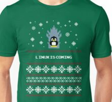 LINUX IS COMING - CHRISTMAS SWEATER Unisex T-Shirt