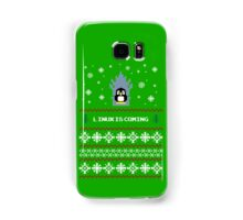 LINUX IS COMING - CHRISTMAS SWEATER Samsung Galaxy Case/Skin