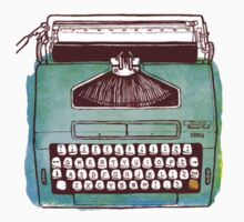 Watercolor Typewriter  by jaredmunson