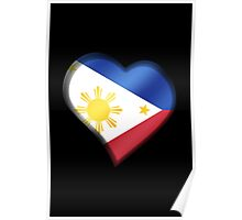 Filipine Flag - Philippines - Heart Poster