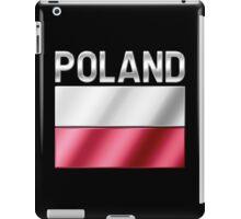 Poland - Polish Flag & Text - Metallic iPad Case/Skin
