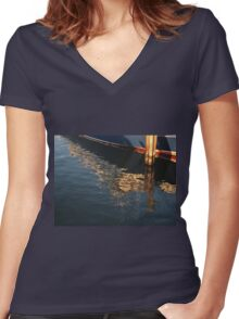 Maritime Abstract Women's Fitted V-Neck T-Shirt
