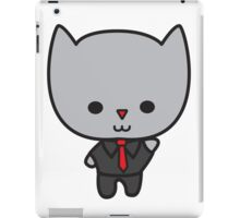 Kawaii Cat with Tie iPad Case/Skin
