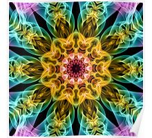 Coloured Smoke Kaleidoscope Poster