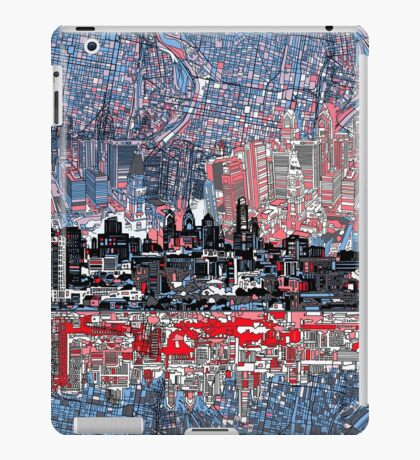 philadelphia skyline 4 iPad Case/Skin
