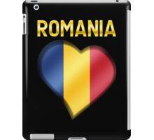 Romania - Romanian Flag Heart & Text - Metallic iPad Case/Skin