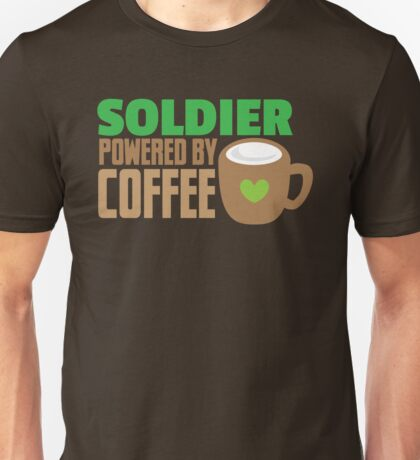 Soldier powered by coffee Unisex T-Shirt