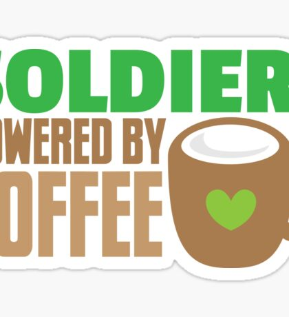 Soldier powered by coffee Sticker