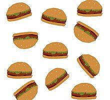 Burger Hamburger Print by duckpie
