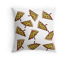 Pizza Collage Throw Pillow