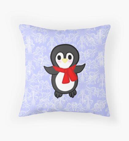 Kawaii Penguin Throw Pillow