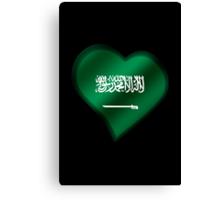 Saudi Arabian Flag - Saudi Arabia - Heart Canvas Print