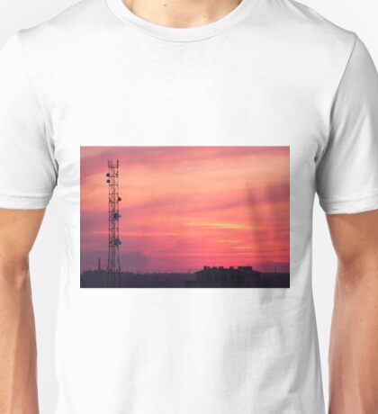 Cellular tower at sunset Unisex T-Shirt