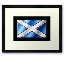 Scottish Flag - Scotland - Metallic Framed Print