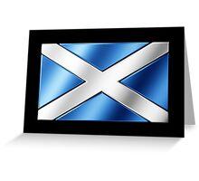 Scottish Flag - Scotland - Metallic Greeting Card