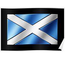 Scottish Flag - Scotland - Metallic Poster