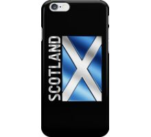 Scotland - Scottish Flag & Text - Metallic iPhone Case/Skin