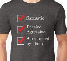Funny Sarcastic Aggressive Idiots Check List Unisex T-Shirt