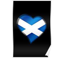 Scottish Flag - Scotland - Heart Poster