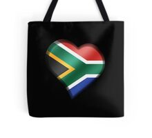 South African Flag - South Africa - Heart Tote Bag