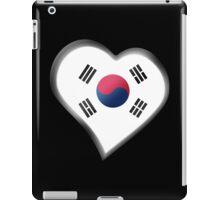 South Korean Flag - South Korea - Heart iPad Case/Skin
