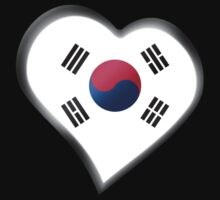 South Korean Flag - South Korea - Heart by graphix