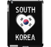 South Korea - South Korean Flag Heart & Text - Metallic iPad Case/Skin