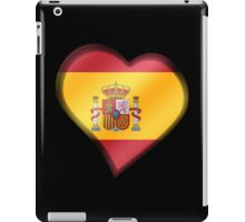 Spanish Flag - Spain - Heart iPad Case/Skin