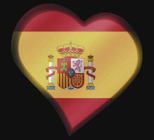 Spanish Flag - Spain - Heart by graphix